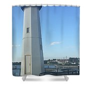 Lighthouse In Texas Shower Curtain