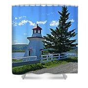 Lighthouse Landscape Four Shower Curtain