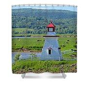 Lighthouse Landscape Three Shower Curtain