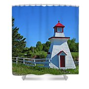Lighthouse Landscape Two Shower Curtain