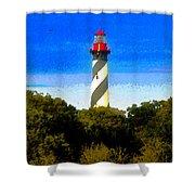 Lighthouse Of Saint Augustine Shower Curtain