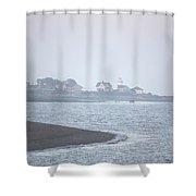 Lighthouse On Lordship Beach Shower Curtain