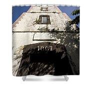 Lighthouse On Point Venus Shower Curtain