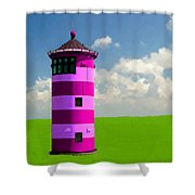 Lighthouse On The Island Shower Curtain