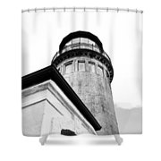 Lighthouse Photography  Shower Curtain