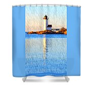 Lighthouse Reflection Shower Curtain