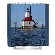 Lighthouse Restored Shower Curtain