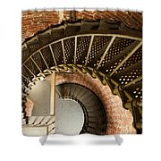 Lighthouse Stairs Cape Blanco Oregon 2 Shower Curtain
