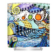 Lighthouse Storm Shower Curtain
