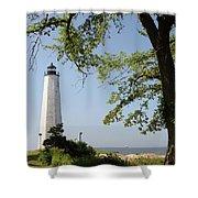 Lighthouse Summer Shower Curtain