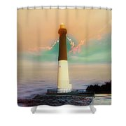 Lighthouse Sunrise Shower Curtain