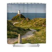 Lighthouse Twr Mawr Shower Curtain