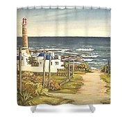 Lighthouse Uruguay  Shower Curtain