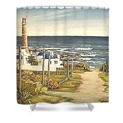 Lighthouse Uruguay  Shower Curtain