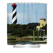 Lighthouse Water View Shower Curtain