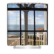 Lighthouse Window Shower Curtain