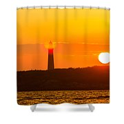 Lighthouse With Flare Shower Curtain