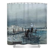 Lighthouses Beyond Shower Curtain