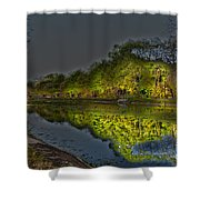 Lighting The Erie Canal Shower Curtain