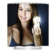 Lighting The Way To Innovation Shower Curtain