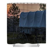 Lighting The West  Shower Curtain