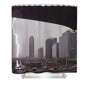 Lighting Up Atlantic Station Shower Curtain