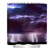 Lightning Above And Below Shower Curtain