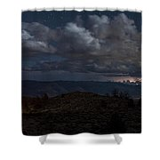 Lightning And Light Trails Shower Curtain