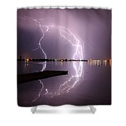 Lightning And Water Shower Curtain