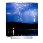 Lightning Blues Shower Curtain