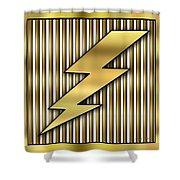 Lightning Bolt Shower Curtain