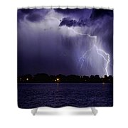 Lightning Bolt Energy Color Shower Curtain