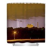 Lightning Bolts Striking In Loveland Colorado Shower Curtain
