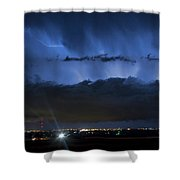 Lightning Cloud Burst Shower Curtain