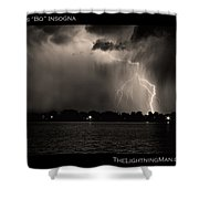 Lightning Energy Poster Print Shower Curtain