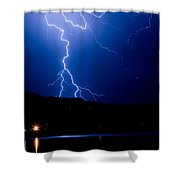 Lightning Fork In The Hills Shower Curtain