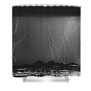 Lightning Long Exposure Shower Curtain
