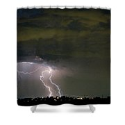Lightning Man In The Clouds Shower Curtain