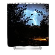 Lightning On The Distant Mountains Shower Curtain