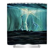 Lightning On The Prairie Shower Curtain