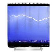 Lightning Over North Boulder Colorado  Poster Lm Shower Curtain