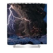 Lightning Pierces The Erupting Shower Curtain