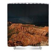 Lightning Rainbow Over Hoodoos Bryce Canyon National Park Utah Shower Curtain