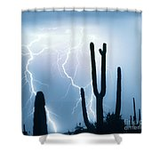 Lightning Storm Chaser Payoff Shower Curtain