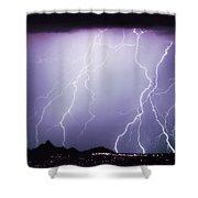 Lightning Storm North Scottsdale Az 85255 Shower Curtain
