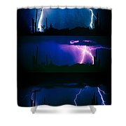 Lightning Storm Progression Shower Curtain