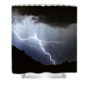 Lightning Strike Bump In The Road Shower Curtain