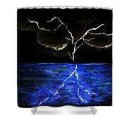 Lightning Strikes Shower Curtain