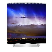 Lightning Thunder Head Cloud Burst Boulder County Colorado Im39 Shower Curtain by James BO  Insogna