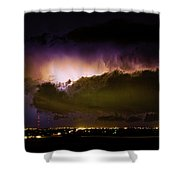 Lightning Thunderstorm Cloud Burst Shower Curtain